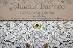 2016-09-11 - Johanna Basford 2017 Coloring Calendar