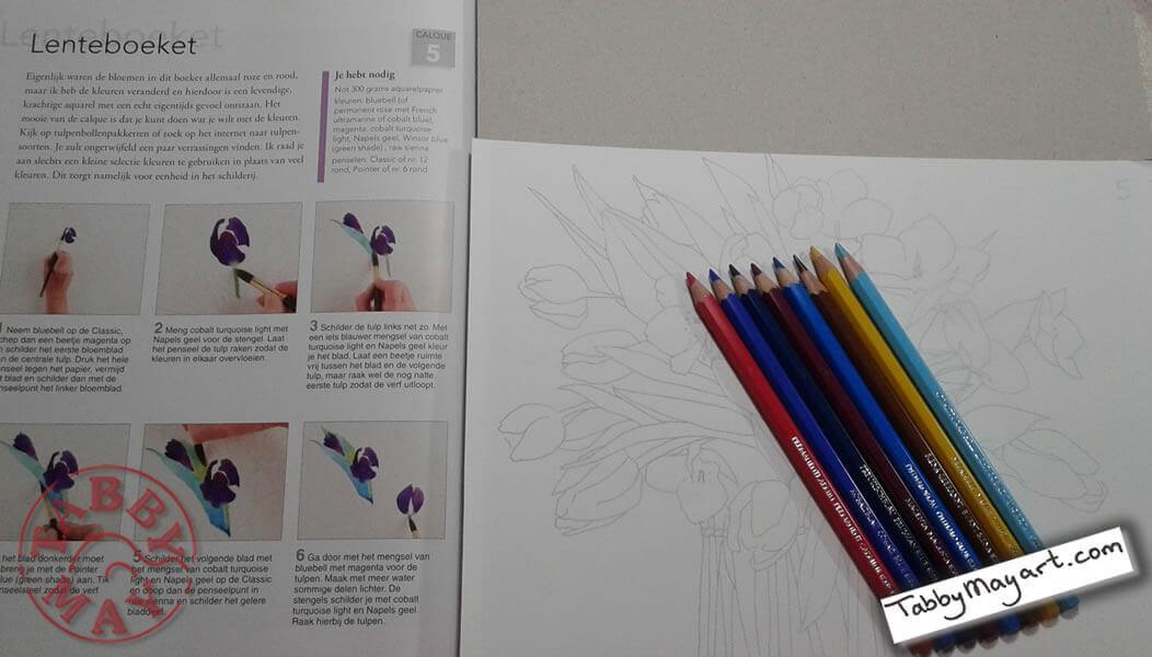 Review Tulpen aquarelleren lenteboeket