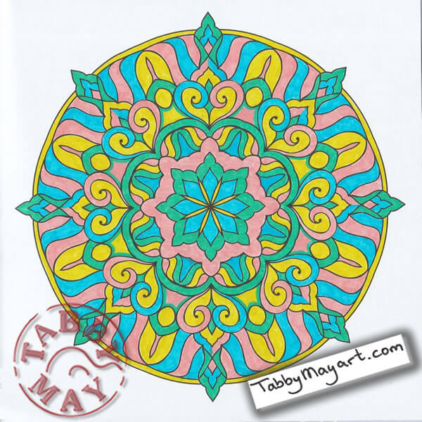 Lyra Art Pens in the One and Only Mandala Coloring Agenda 2017