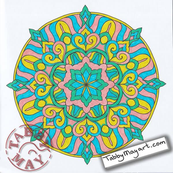 Lyra Art Pen in de Enige Echte Mandala Kleurkalender 2017