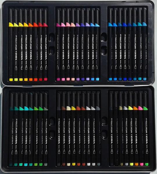 Blik met 50 Lyra Art Pen stiften