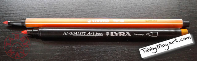 Lyra Art Pens vd. Stabilo 68