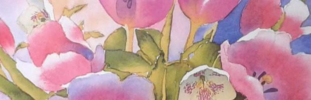 Tulips in watercolour review