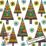 The One and Only Coloring Christmas Cards BBNC 'Mexican Forest'