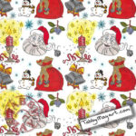 The One and Only Coloring Christmas Cards BBNC 'Christmas time is here'