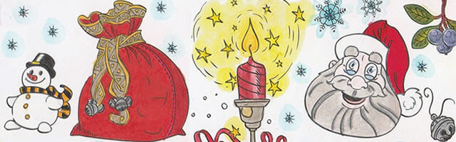 The One and Only Coloring Christmas Cards BBNC