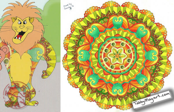 Stop the thief! Lion - Drawing: Sandy Wijsbeek Coloring: Tabby May