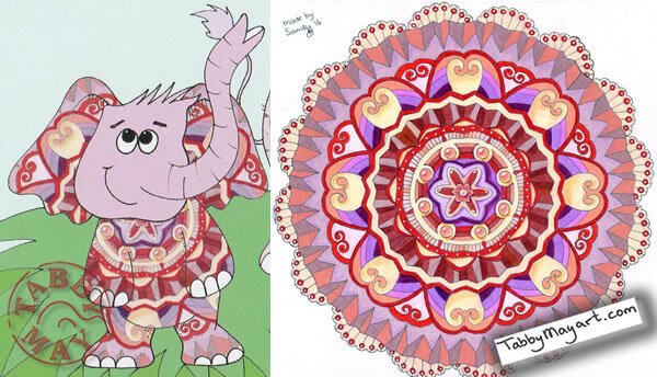 Stop the thief! Elephant - Drawing: Sandy Wijsbeek Coloring: Tabby May