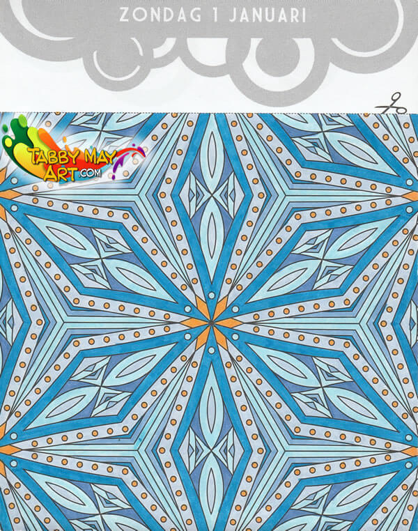The One and Only Coloring Block Calendar 2017 - BBNC - Snowflake