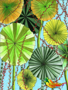Fan palm jungle - Doodled Blooms, Michelle Johnson