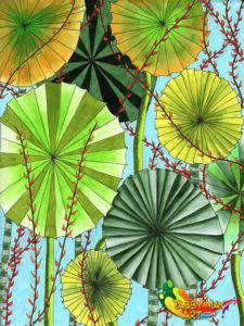 Fan palm jungle - Doodled Blooms, Michelle Johnson