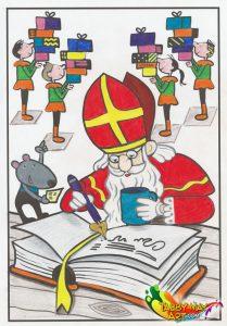 Het grote kleurboek van Sinterklaas - BBNC - Sint en het grote boek