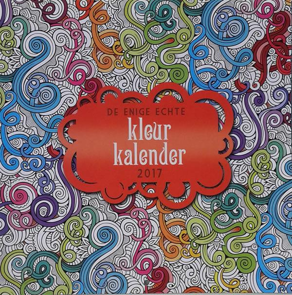 De Enige Echte Kleurkalender 2017 cover