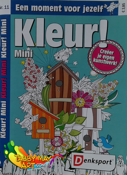 Vacation and new coloring stuff - Denksport Kleur! Mini