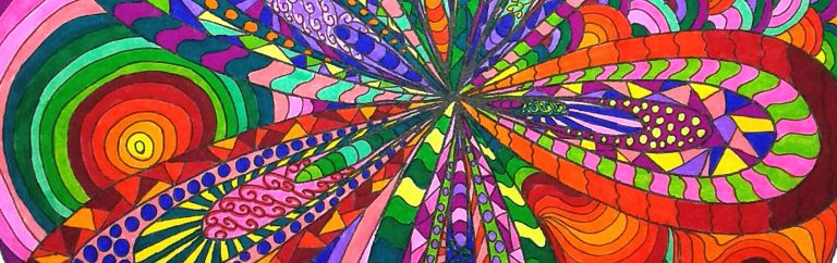 Doodling - Tabby May Art - Coloring for adults