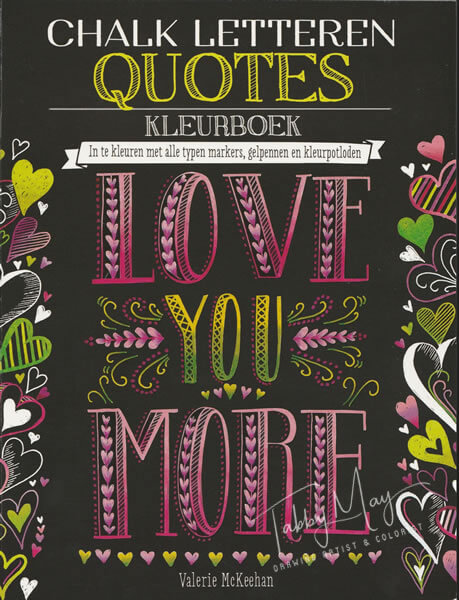 Chalk Letteren Quotes - BBNC Publishers - Tabby May Art - Dutch cover