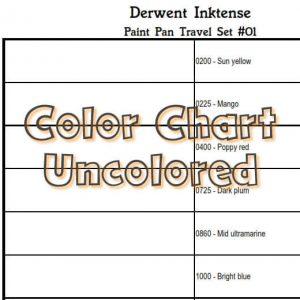 Derwent Inktense Paint Pan Travel set 01