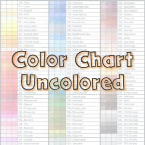 Color Chart Uncolored - Tabby May Art Webshop