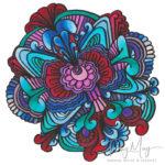 Doodle dood 'mandala', that I named Coral reef