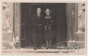 Aunt Dien and Uncle Wim's wedding day in 1942