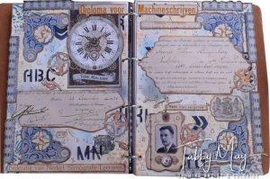 Antique in art - repurposed certificate