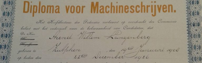 Antique in Art - typing certificate repurposed