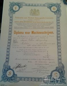 typing certificate uncle Wim
