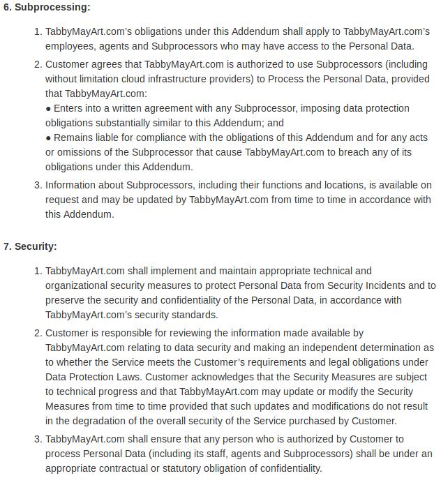 Data protection addendum 05