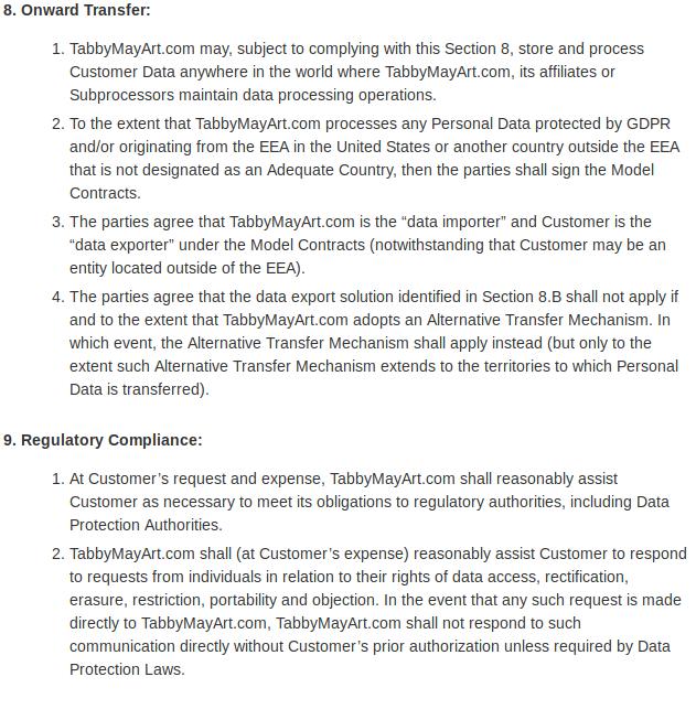 Data protection addendum 06