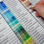 color chart Luminance