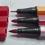 Top to bottom: Point 88, Pen 68, Pen 68 Brush