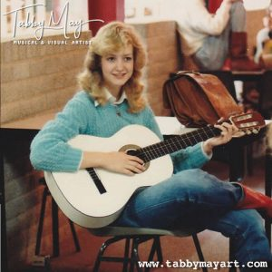 schoolfoto met gitaar