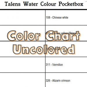 Talens Water Colour Pocketbox